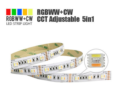 rgbcct led strip, cct led strip, 5-in-1 led strip